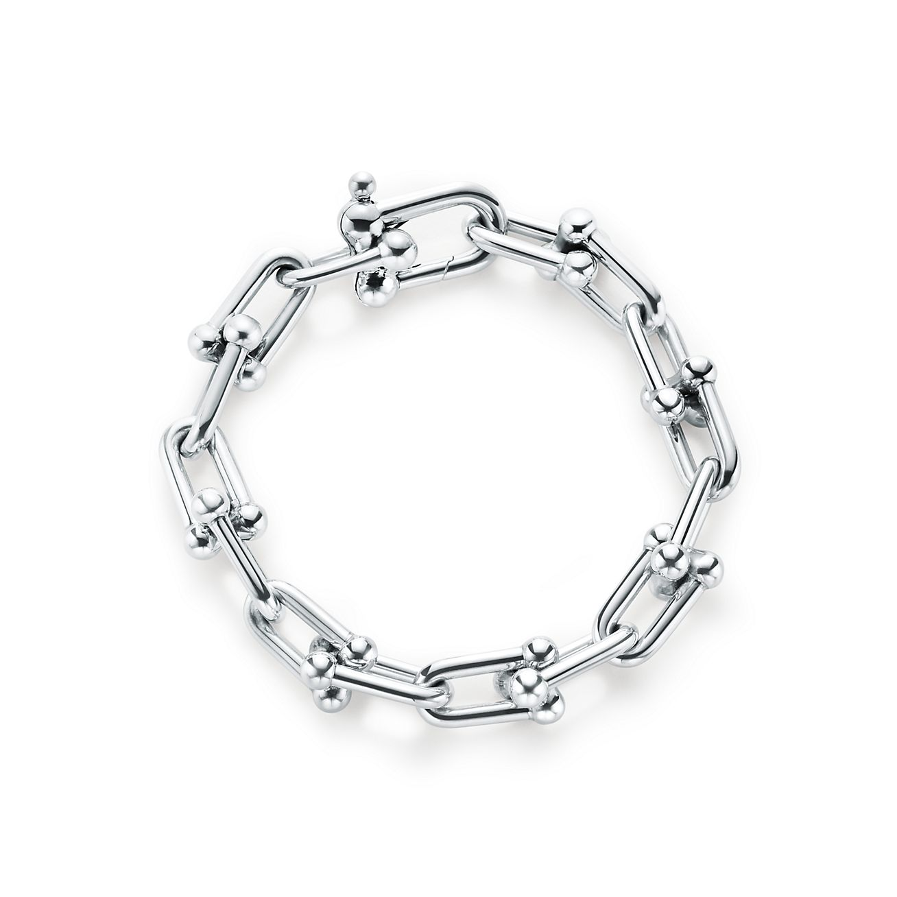Tiffany City HardWear link bracelet in sterling silver, medium Tiffany & Co.