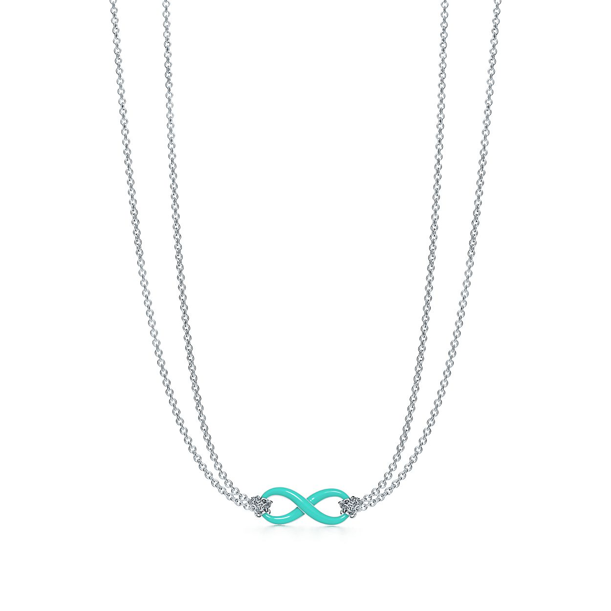 Sterling Silver Infinity Symbol Pendant In Tiffany Blue Tiffany Co