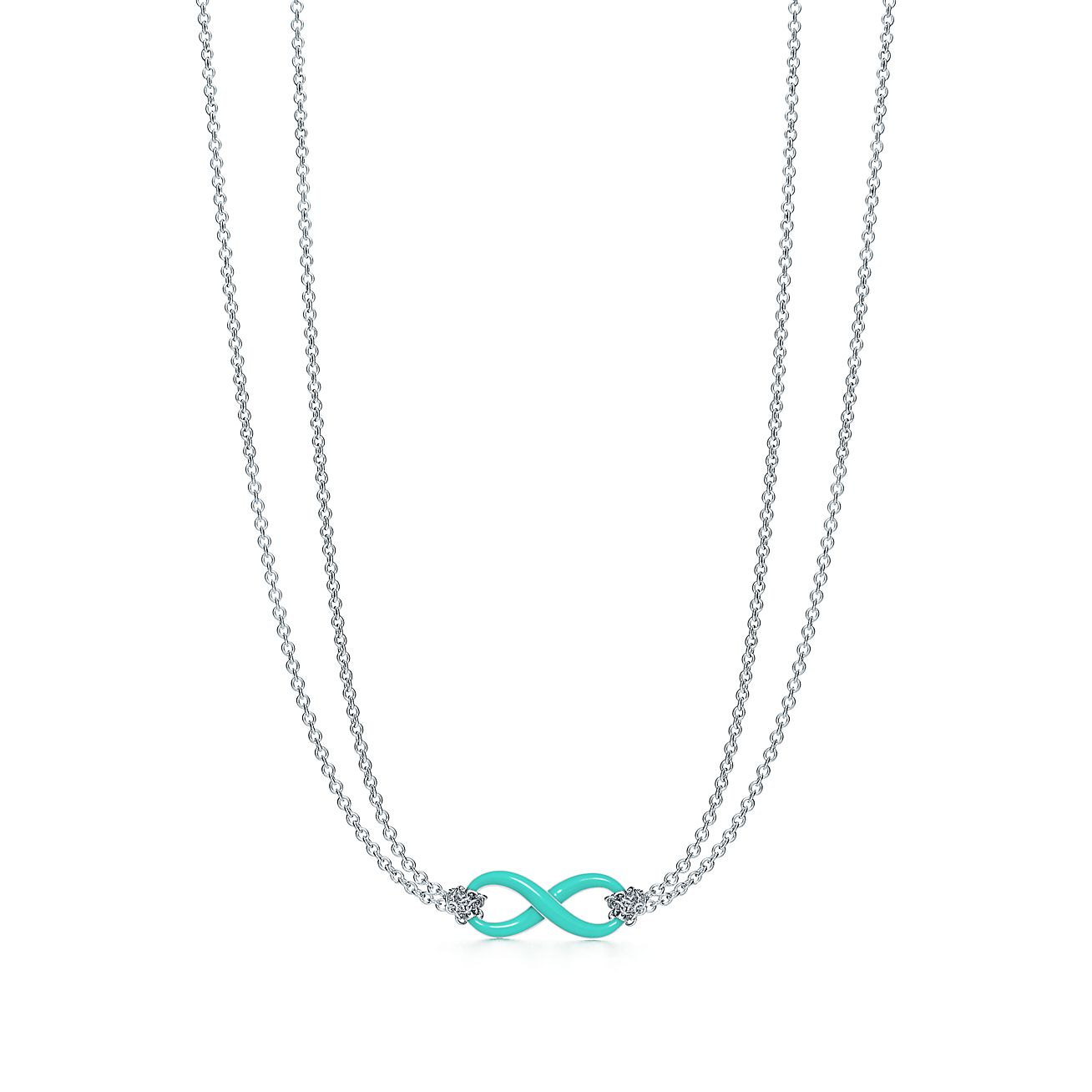 Sterling silver infinity symbol pendant in tiffany blue tiffany co tiffany infinitypendant aloadofball Gallery