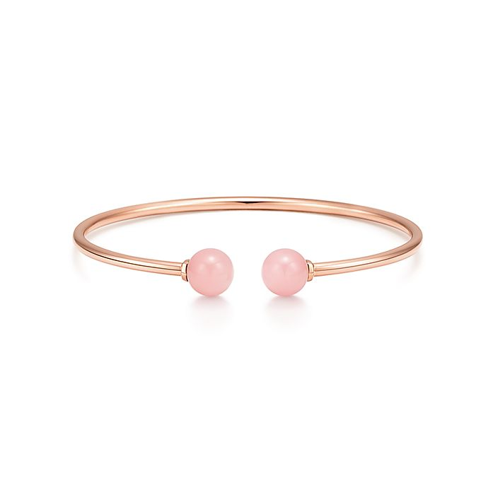 0496c15a4 Tiffany HardWear ball wire bracelet in 18k rose gold with pink ...