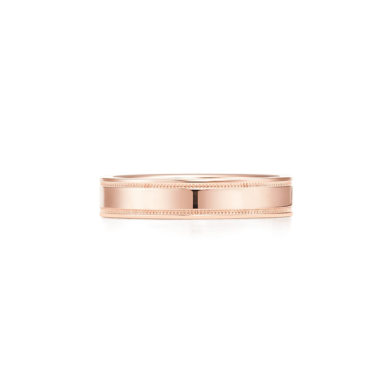 Tiffany & Co band ring in 18k gold with diamonds, 4 mm - Size 10 1/2 Tiffany & Co.