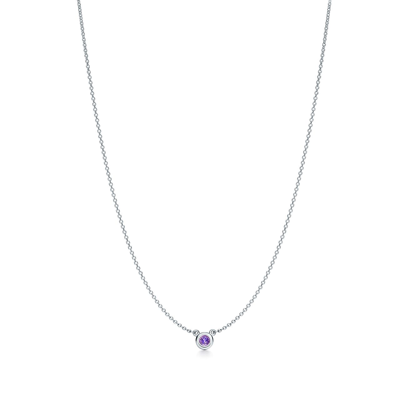 Elsa Peretti Color by the Yard pendant in sterling silver with an amethyst Tiffany & Co.
