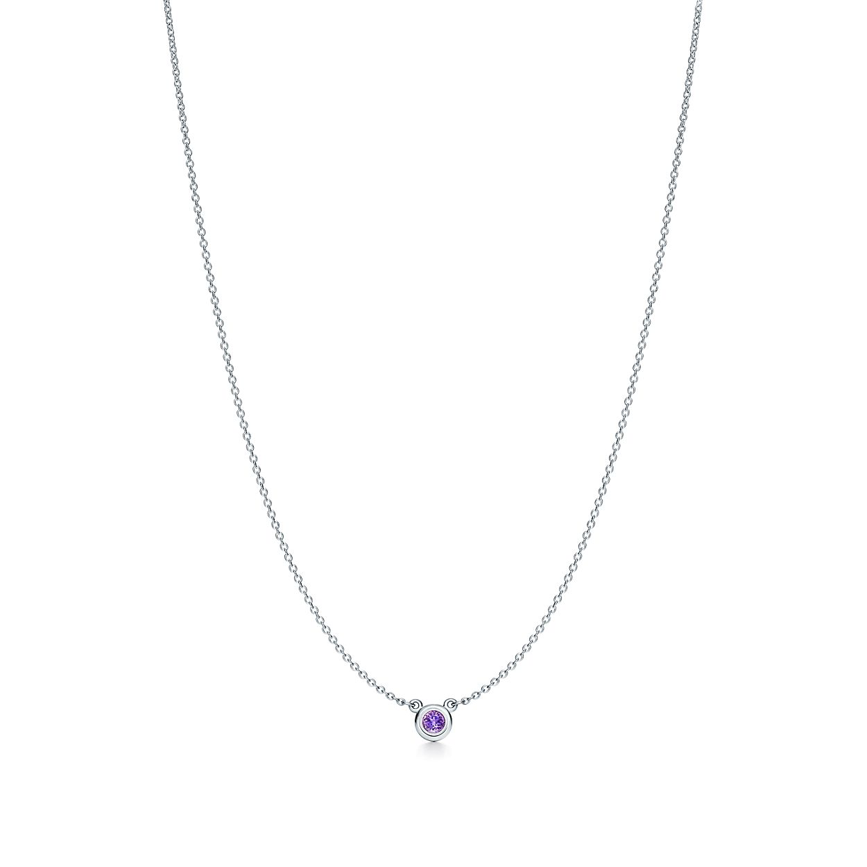 Elsa Peretti Color by the Yard pendant in sterling silver with an amethyst Tiffany & Co. 55HUON