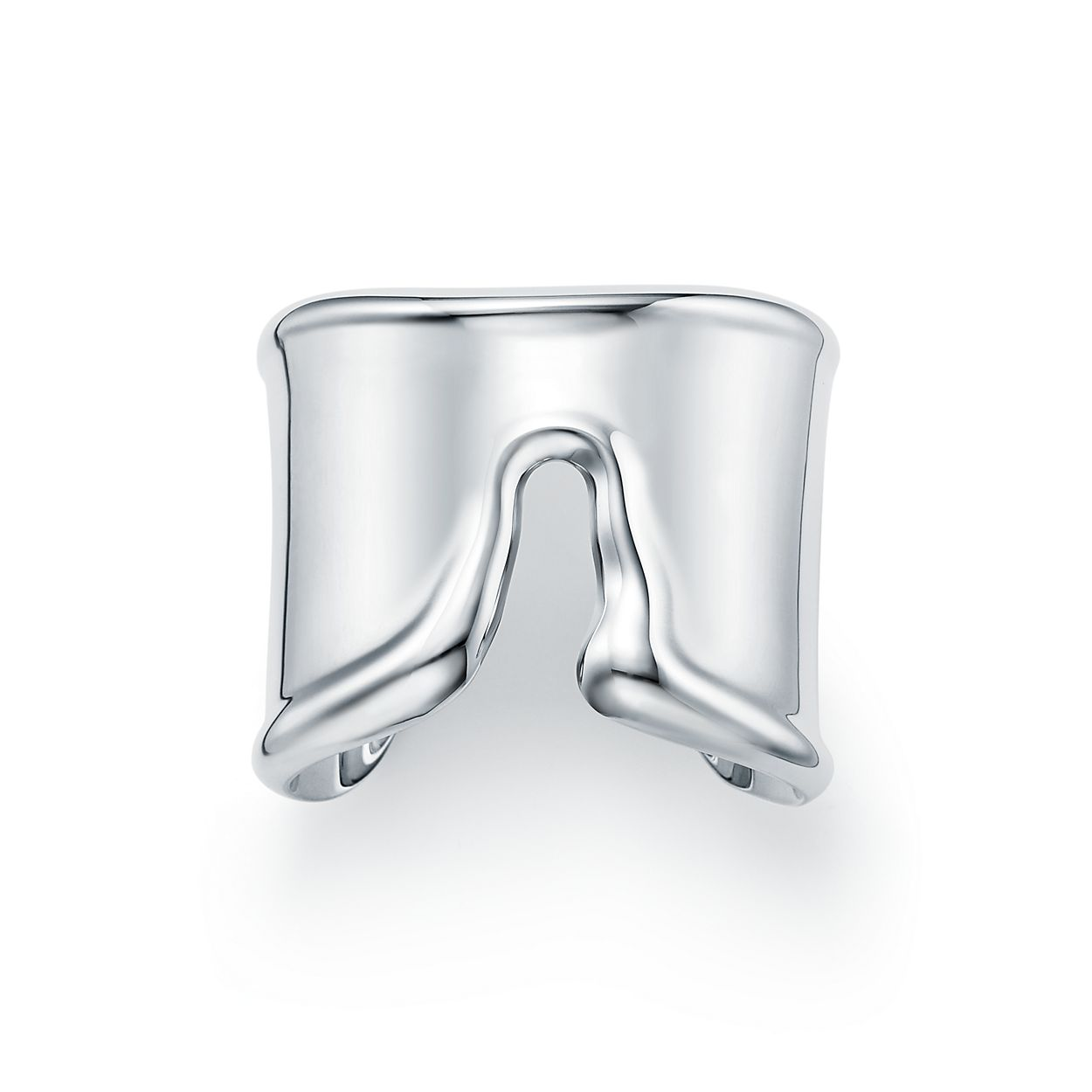 Elsa Peretti Bone cuff in sterling silver, medium, left wrist - Size Medium Tiffany & Co.