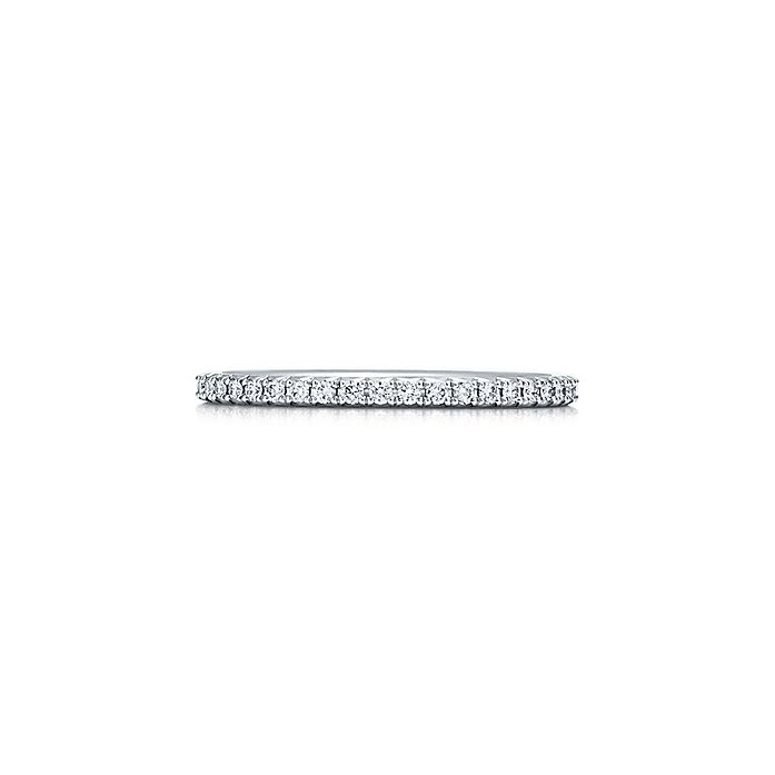 db1c6ee0b Tiffany Metro ring in platinum with diamonds. | Tiffany & Co.