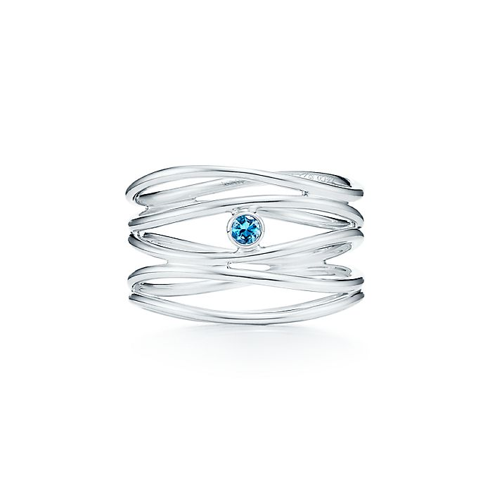 8ec20a43a Elsa Peretti® Wave five-row ring in sterling silver with an ...