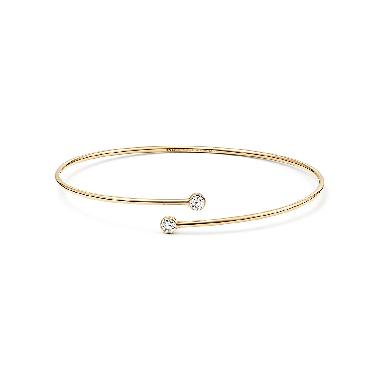 single party diamond gold bracelet solid w line p ct bangles