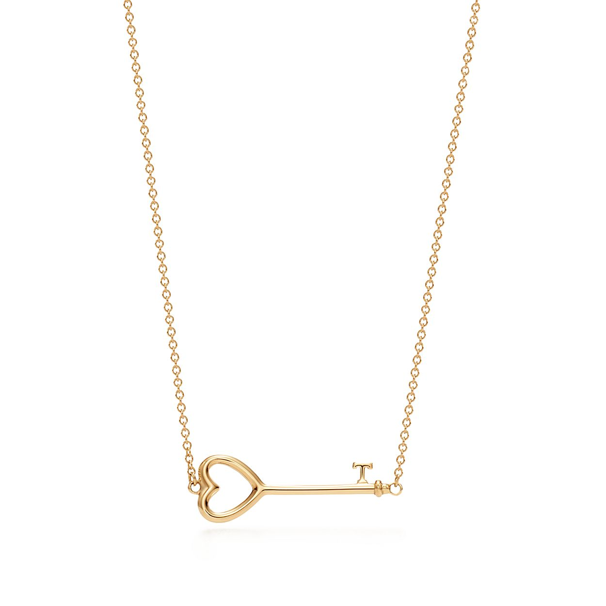 Tiffany keys east west heart pendant in 18k gold tiffany co tiffany keyseast west heart pendant aloadofball Image collections