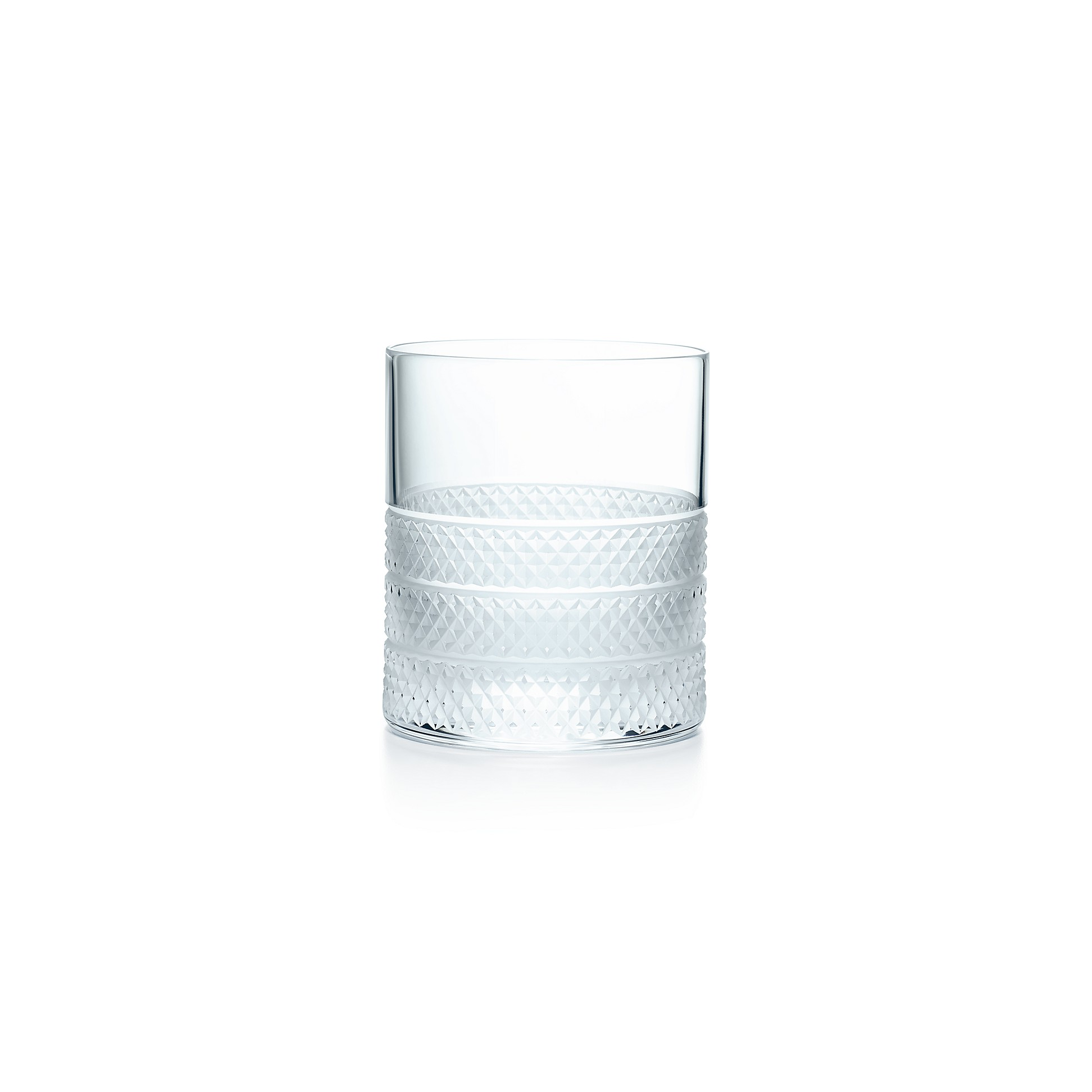 Diamond Point        Double Old Fashioned Glass by Diamond Point
