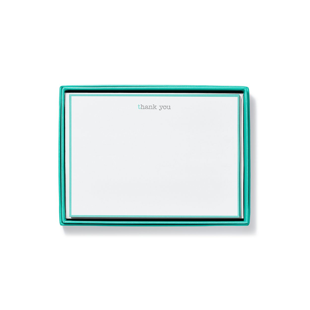 thank you cards in cotton paper set of 10 tiffany co