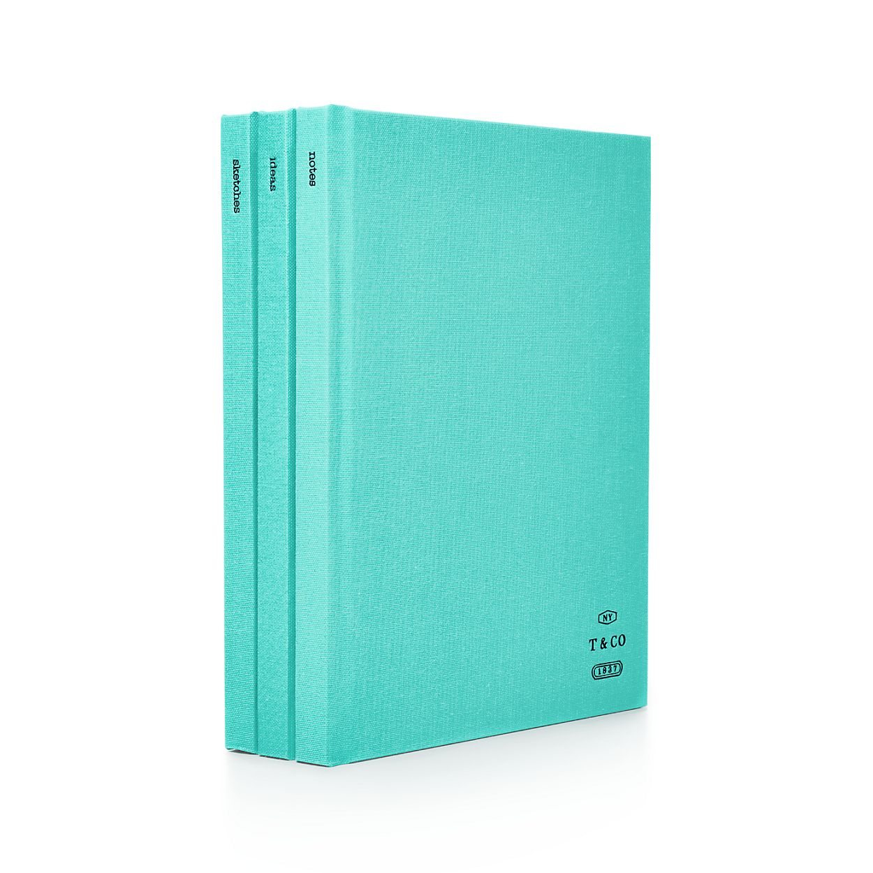 notebooks in bookcloth set of three tiffany co