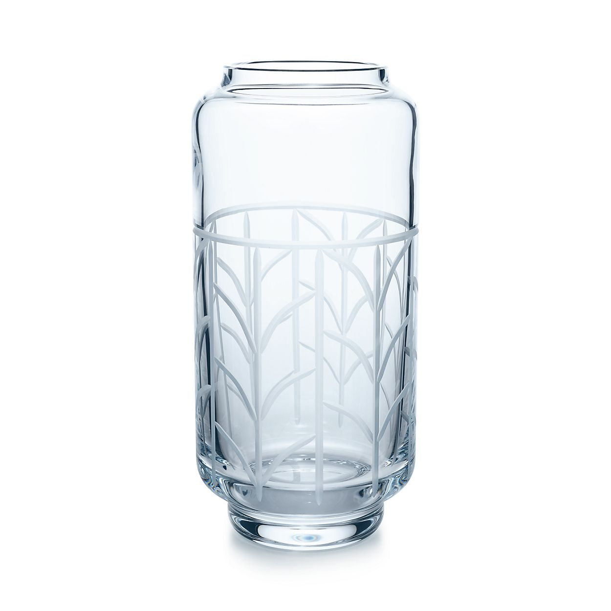 Wheat Leaf Baluster Vase In Crystal Glass Large Tiffany Co