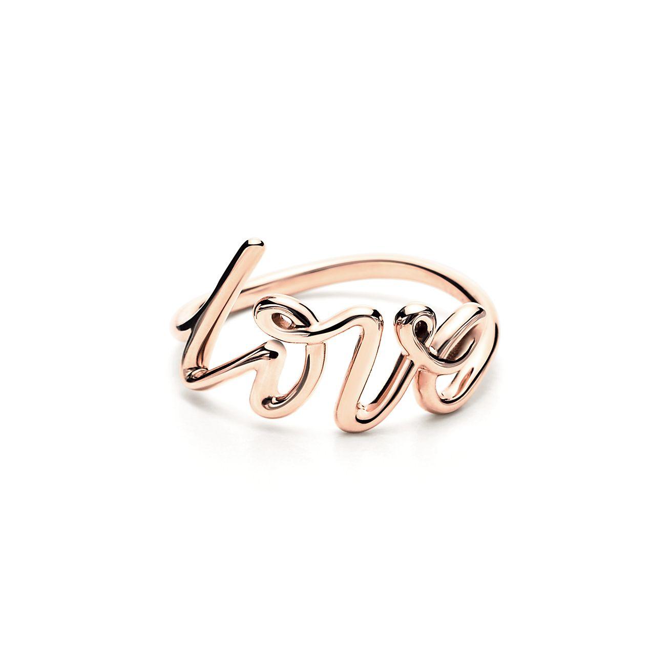Paloma S Graffiti Love Ring In 18k Rose Gold Tiffany Co