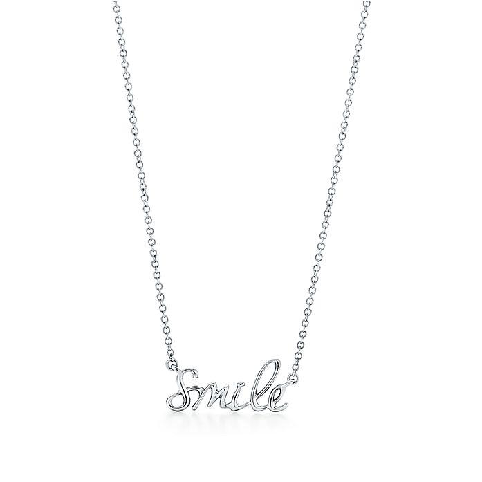 e16e413be Paloma's Graffiti smile pendant in sterling silver. | Tiffany & Co.