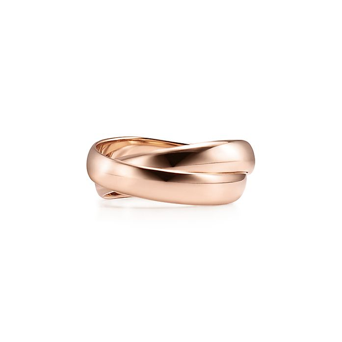 e0cd9aa2b Paloma's Melody two-band ring in 18k rose gold. | Tiffany & Co.