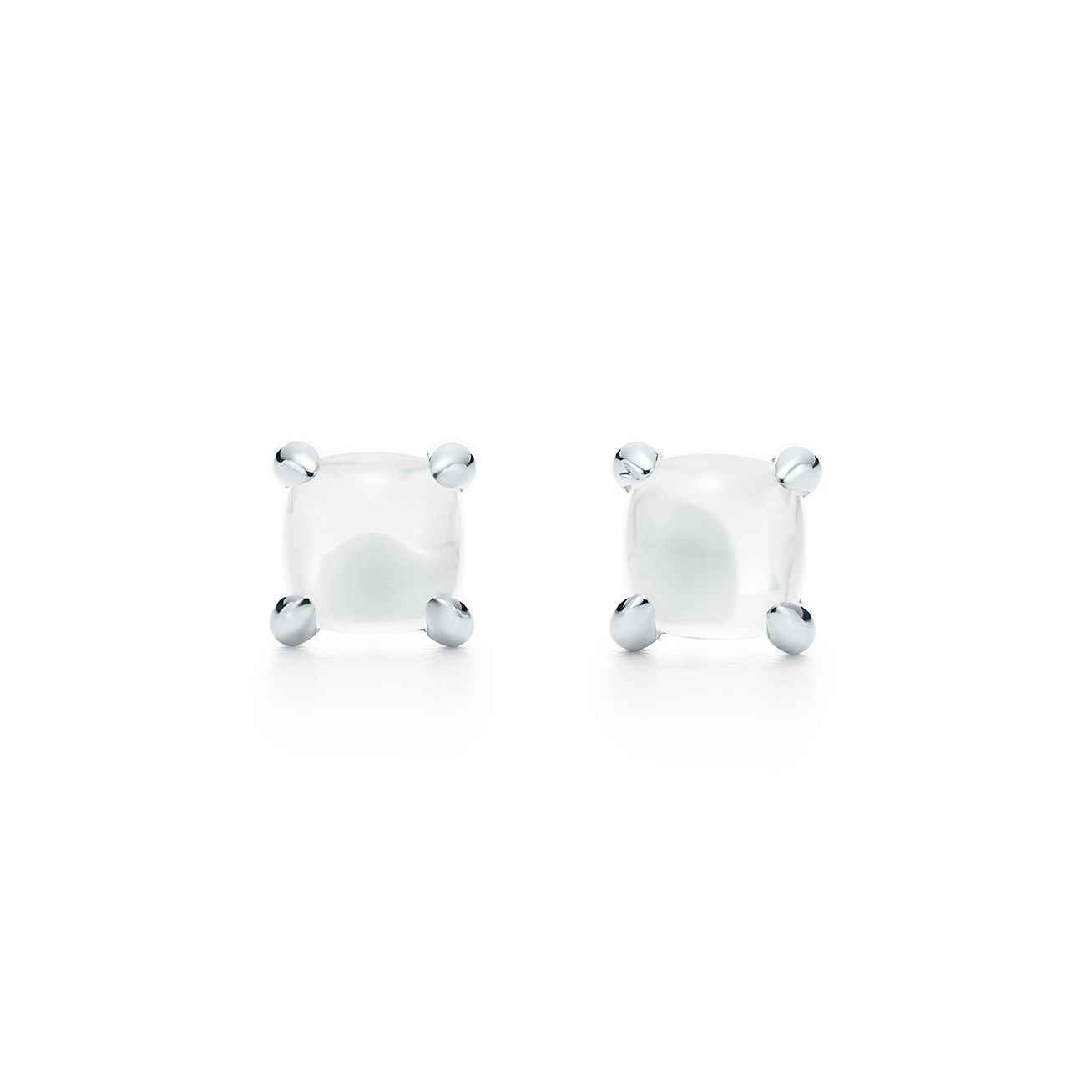 Palomas Sugar Stacks earrings in sterling silver with milky quartz Tiffany & Co.