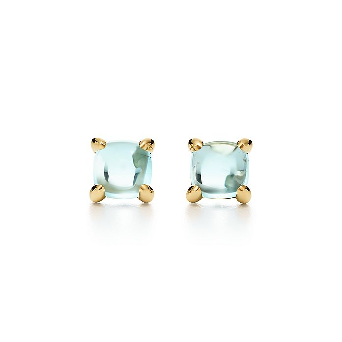 e4963f408 Paloma's Sugar Stacks earrings in 18k gold with blue topaz ...