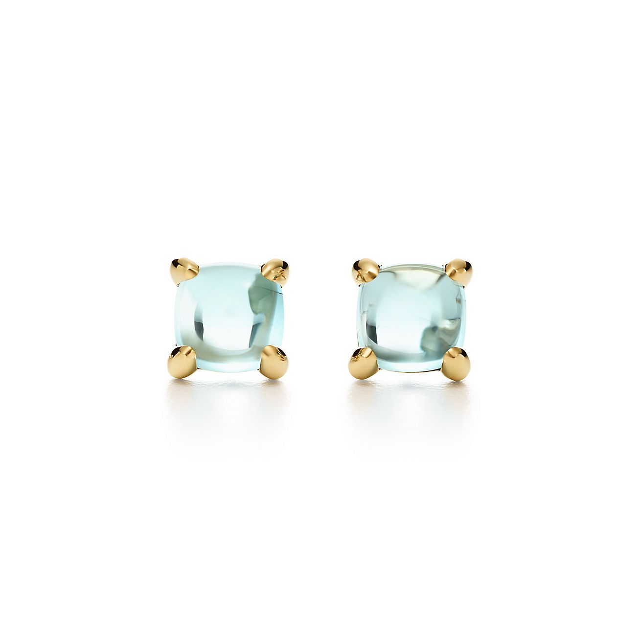 Palomas Sugar Stacks earrings in 18k gold with blue topaz Tiffany & Co.
