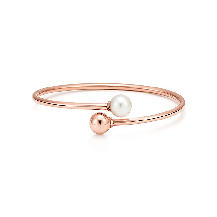 ec659f9cf Tiffany HardWear ball bypass bracelet in 18k rose gold with a ...