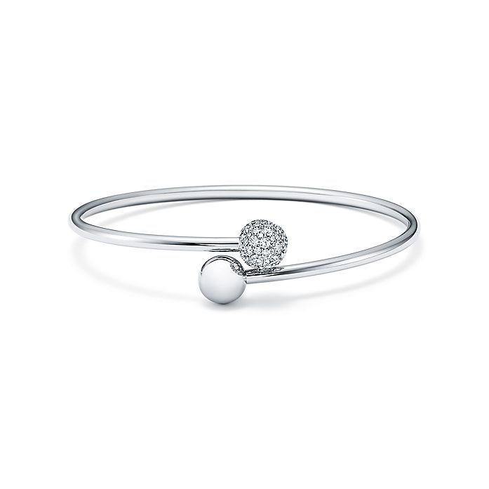 c930ae482 Tiffany City HardWear ball bypass bracelet in 18k white gold with ...
