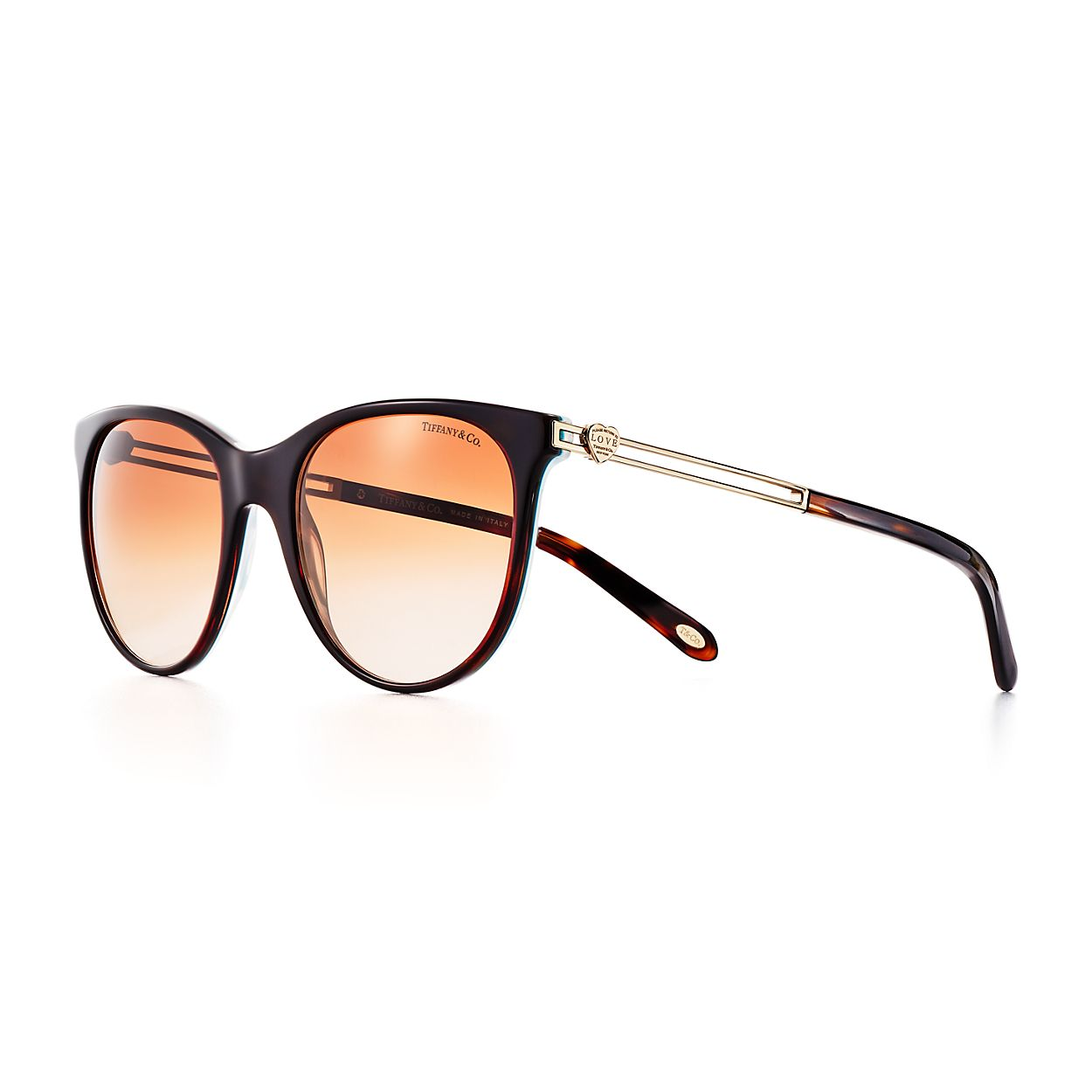 Gafas de sol redondas Love Return to Tiffany® en carey y acetato ...