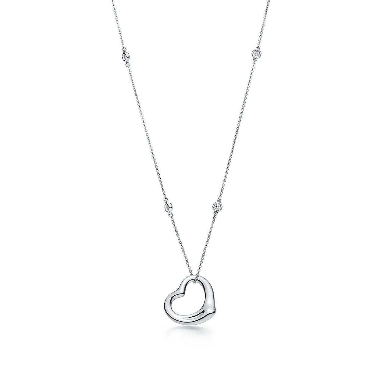 Elsa Peretti Diamonds by the Yard Open Heart pendant in sterling silver Tiffany & Co. ChZyV6q5I