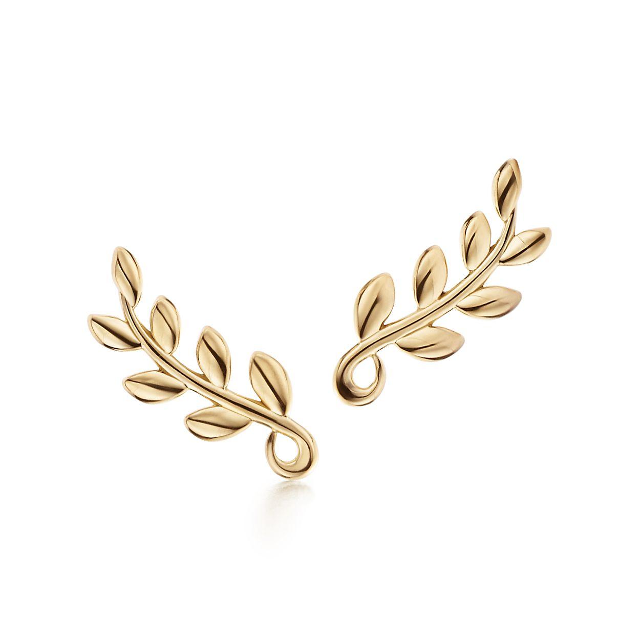 Paloma Pico Olive Leaf Climber Br Earrings