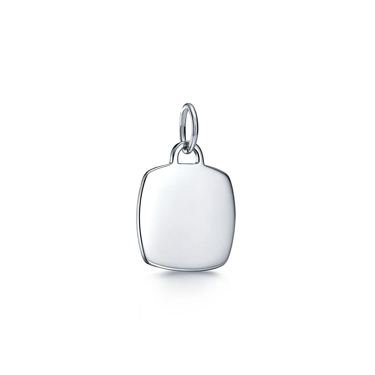 Tiffany Charms cushion tag charm in sterling silver, medium Tiffany & Co.