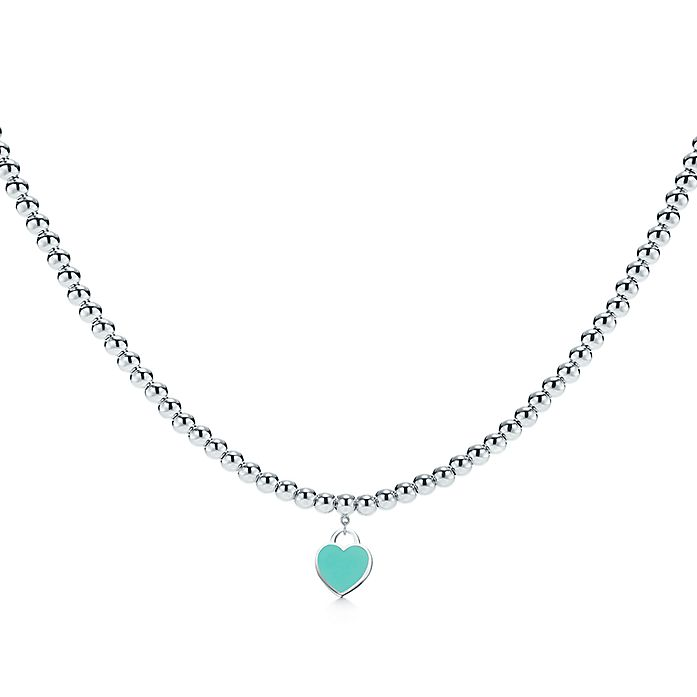 65600bbae Return to Tiffany™ heart tag necklace in sterling silver with enamel ...