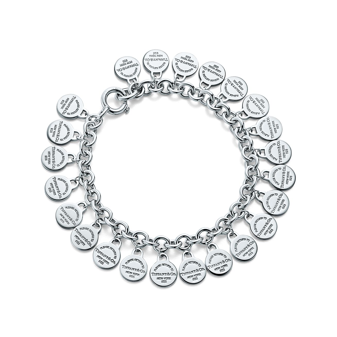 Return to Tiffany multi-round tag bracelet in sterling silver, medium Tiffany & Co.
