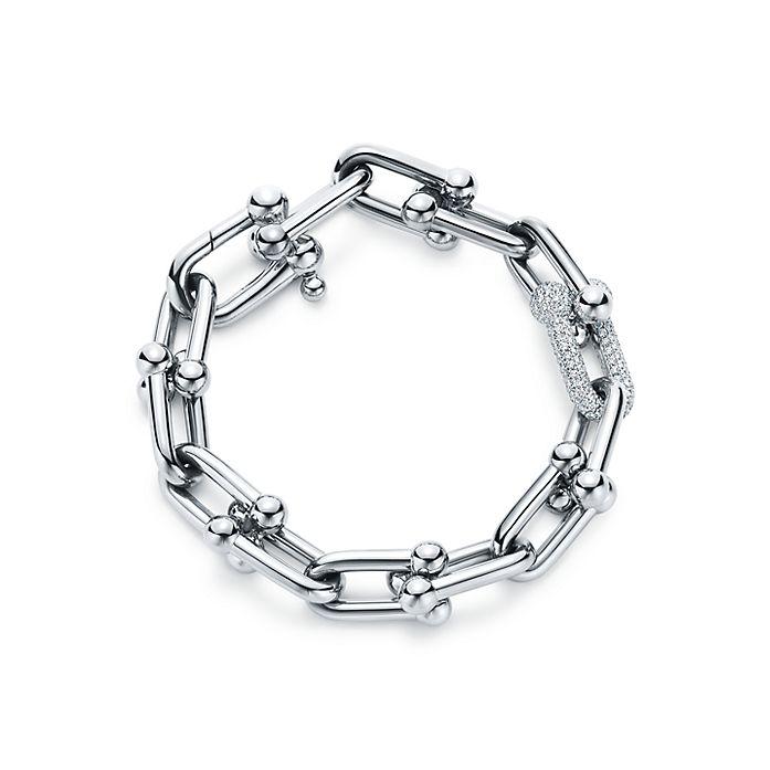 3502f364d Tiffany HardWear link bracelet in 18k white gold with diamonds ...