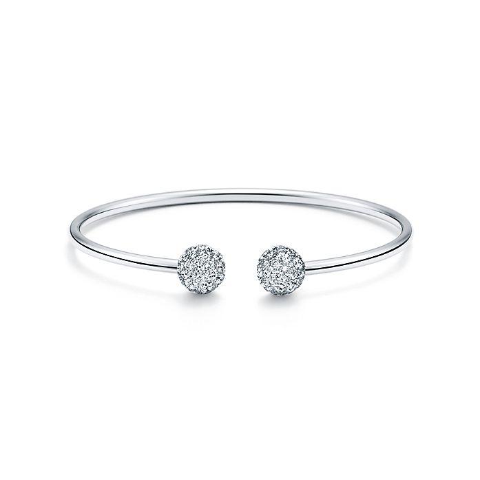 df5f18e2b Tiffany HardWear ball wire bracelet in 18k white gold with diamonds ...