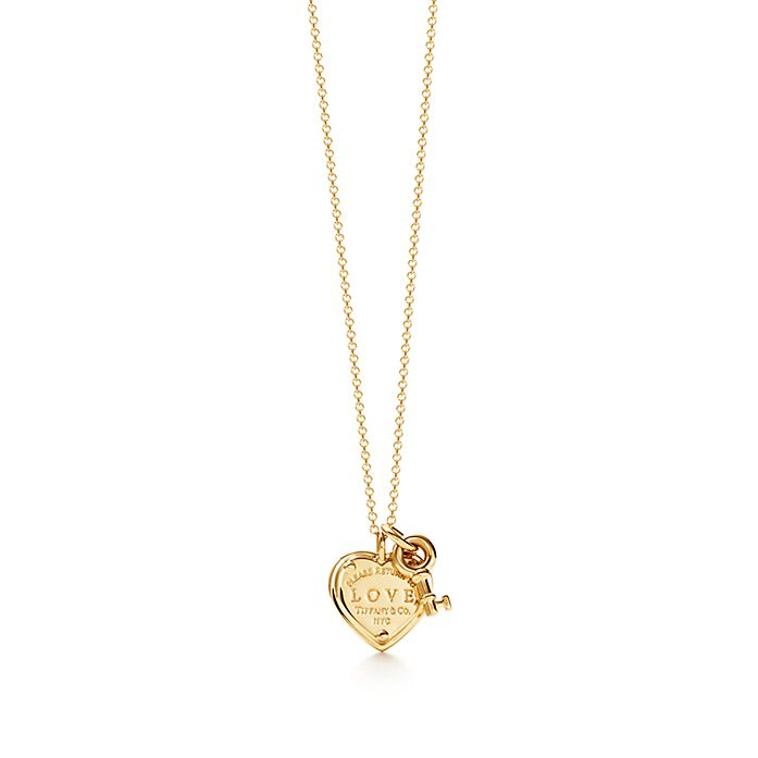 9ca79f82b Return to Tiffany™ Love heart tag key pendant in 18k gold with ...