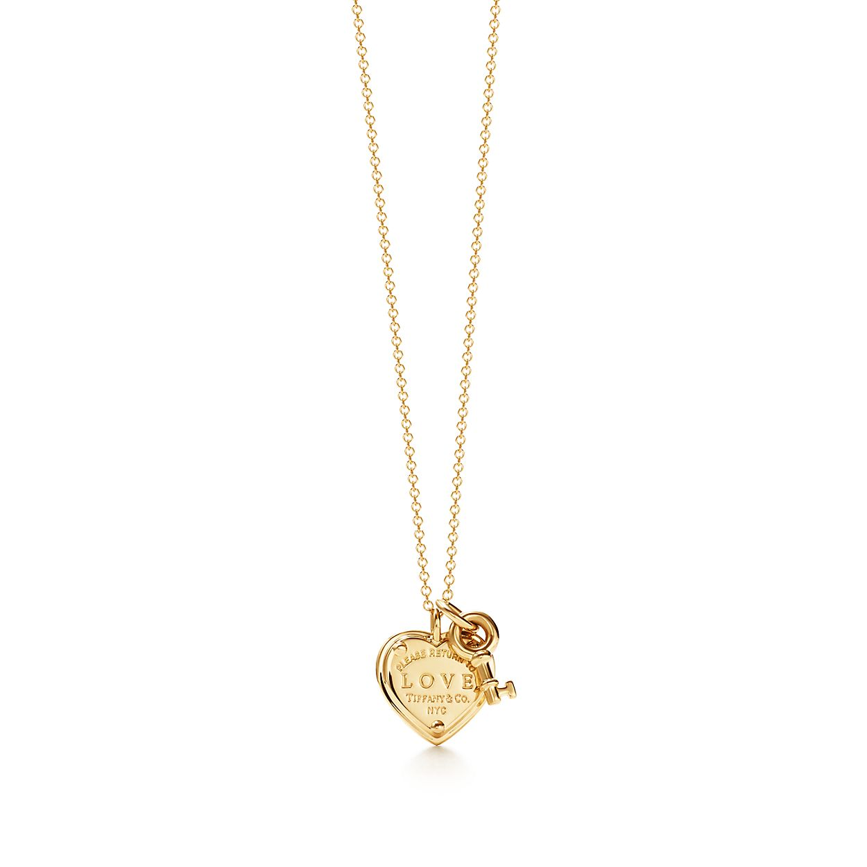 Return To Tiffany Love Heart Key Pendant In 18k Gold