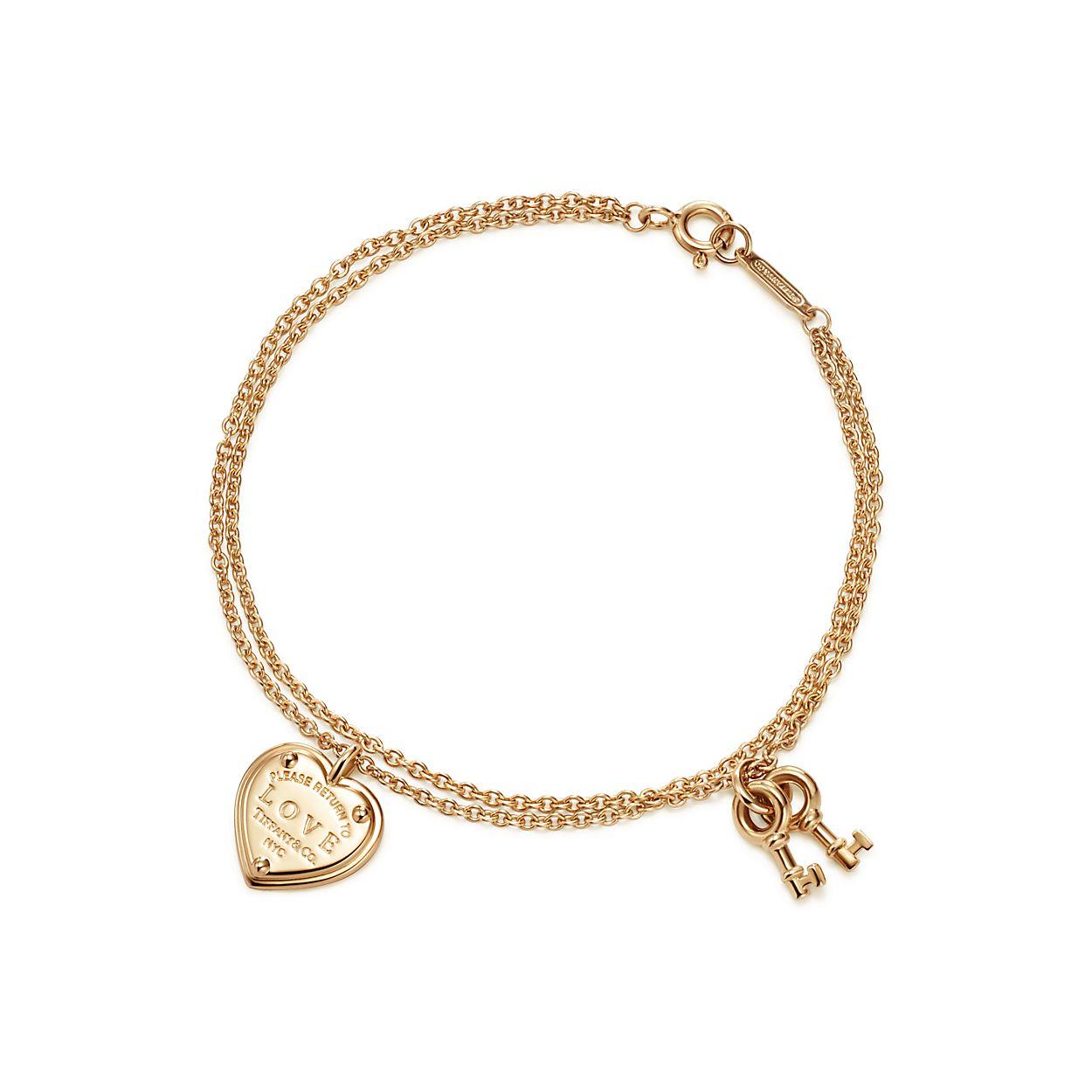 Return To Tiffany Love Heart Tag Key Br Bracelet