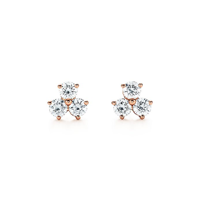 b140d28bd Tiffany Aria earrings in 18k rose gold with diamonds. | Tiffany & Co.
