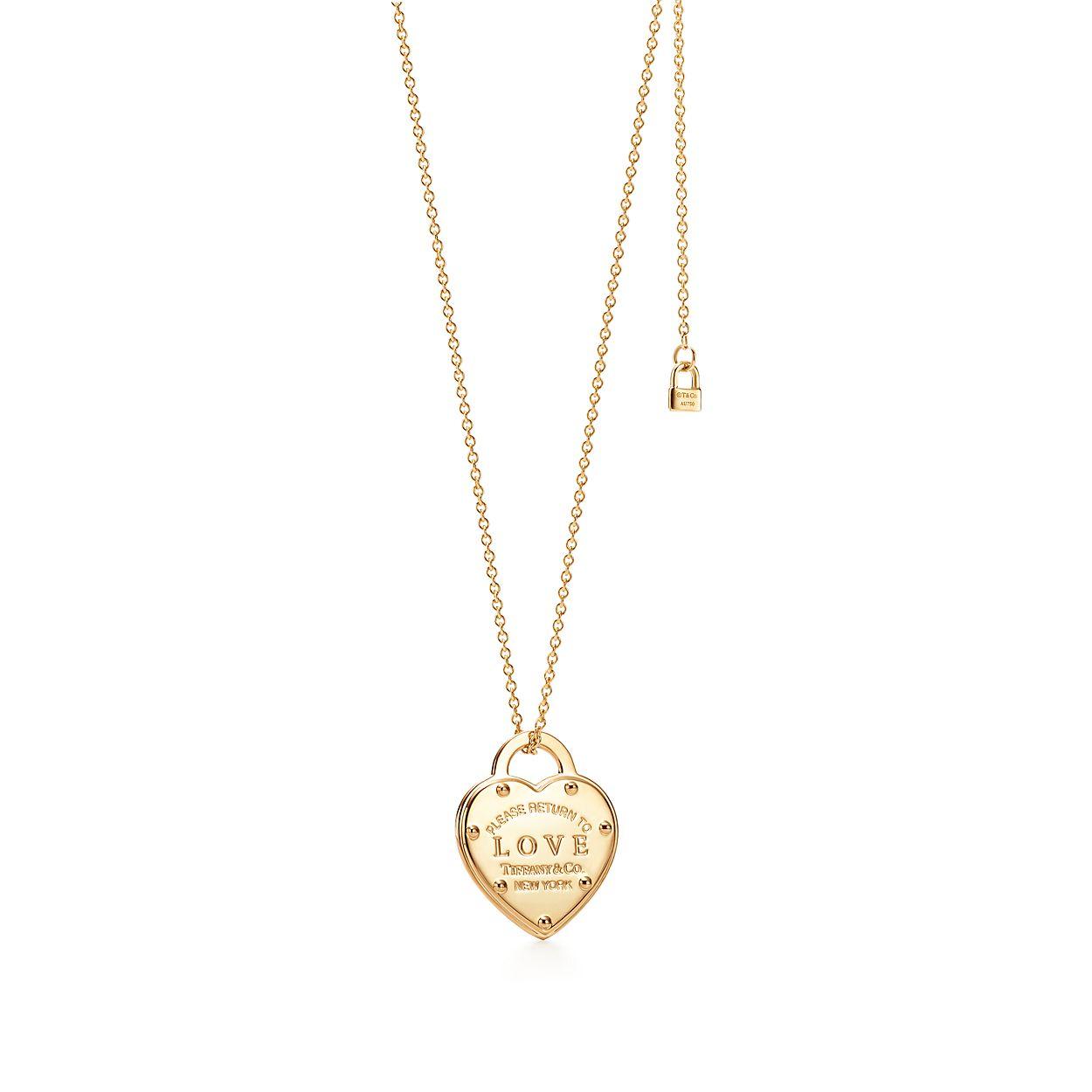 return to tiffany love pendant in 18k gold tiffany co