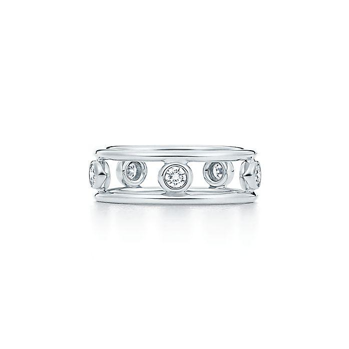 30599e4f6 Elsa Peretti® Diamonds by the Yard® ring in platinum with diamonds ...