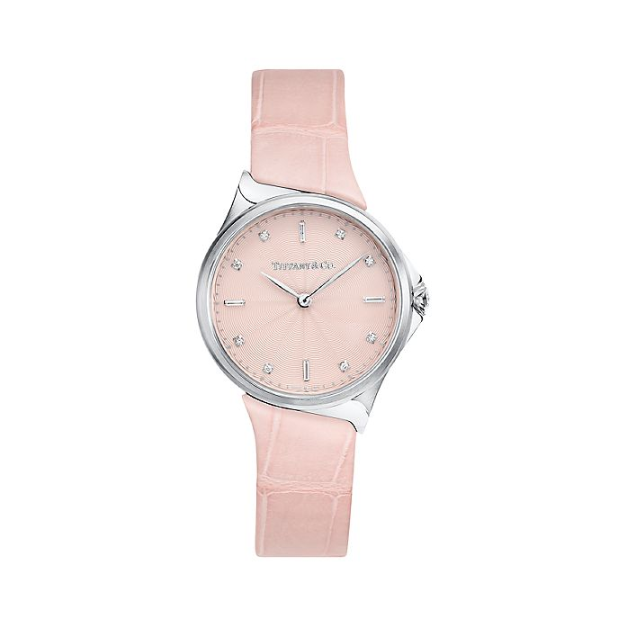 32d081b43510 Tiffany Metro 2-Hand 28 mm women s watch in stainless steel ...