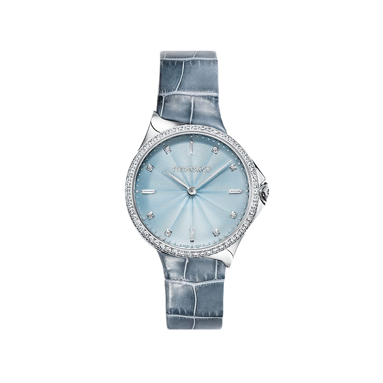 928f217f507c Tiffany Metro 2-Hand 28 mm women s watch in stainless steel with ...