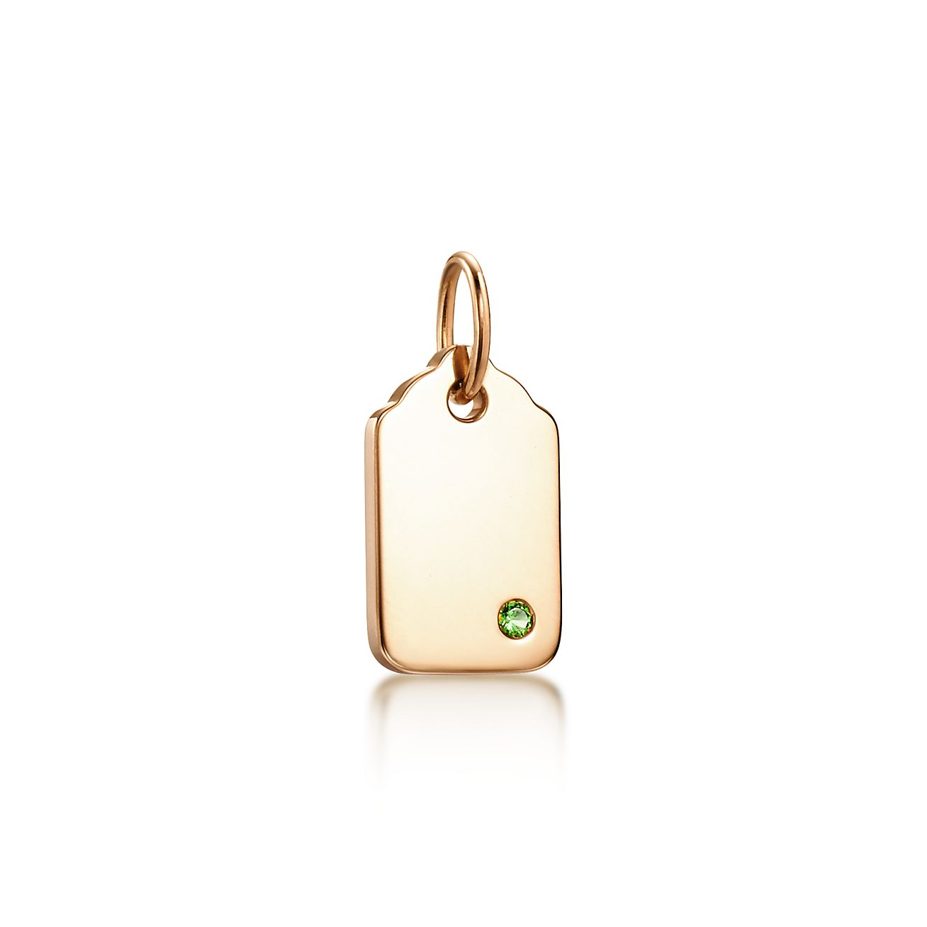 Encantos Tiffany Etiqueta Redondeada En Oro De 18k Con Un Tsavorite, Mini Tiffany & Co.