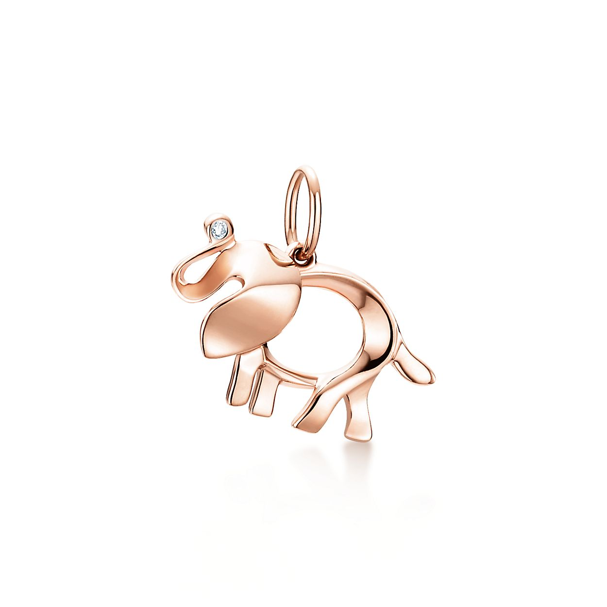Tiffany Save the Wild elephant charm in rose gold with a diamond, extra small Tiffany & Co.