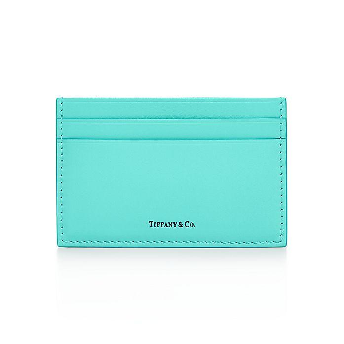 1b2d73494a Card case in Tiffany Blue® smooth calfskin leather. | Tiffany & Co.