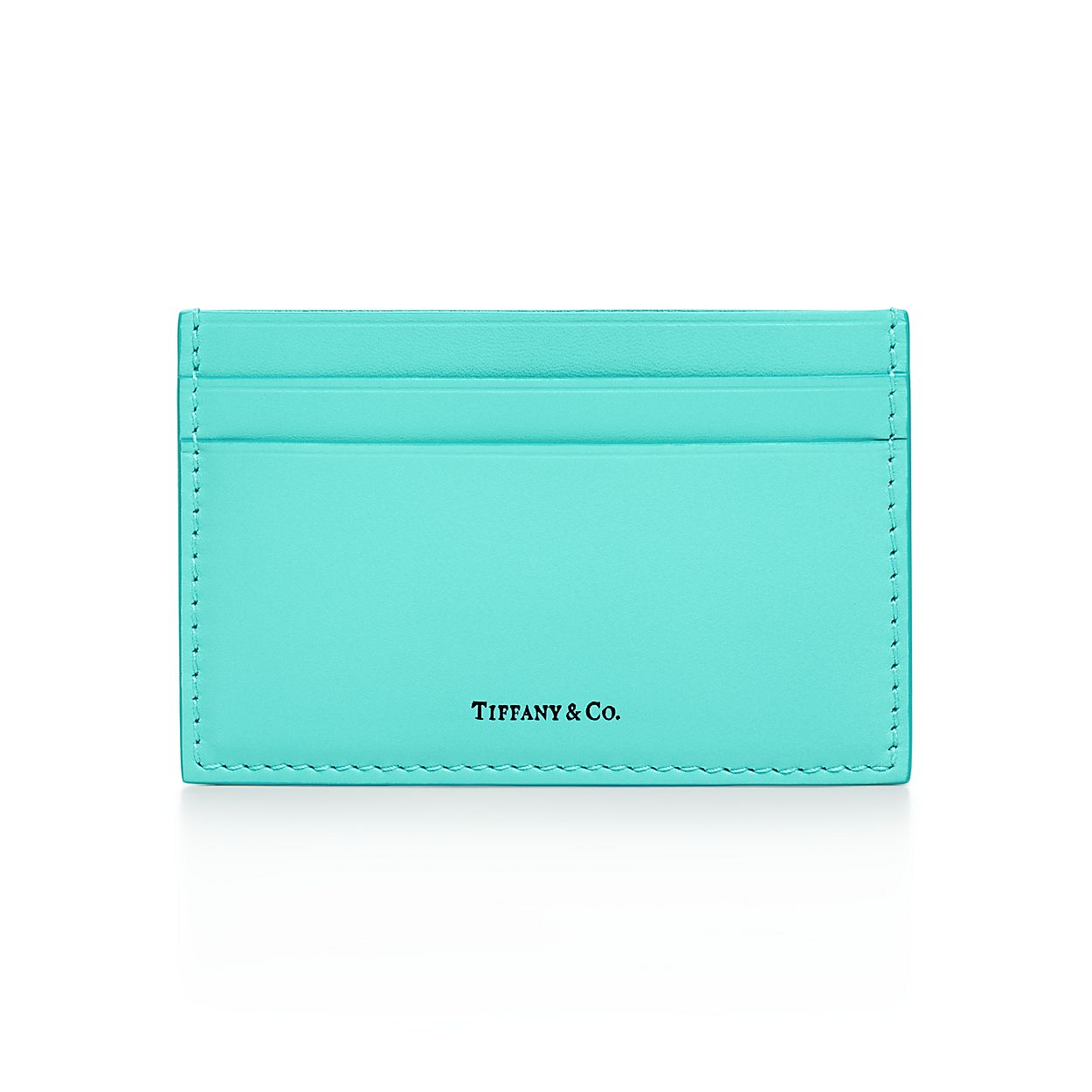Card case in Tiffany Blue® smooth calfskin leather. | Tiffany & Co.