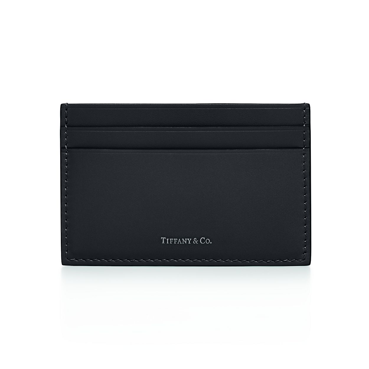 Card case in black smooth calfskin leather. | Tiffany & Co.