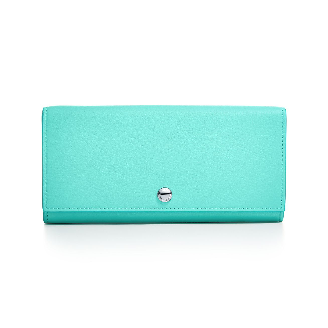 Zip wallet in Tiffany Blue grain calfskin leather Tiffany & Co.