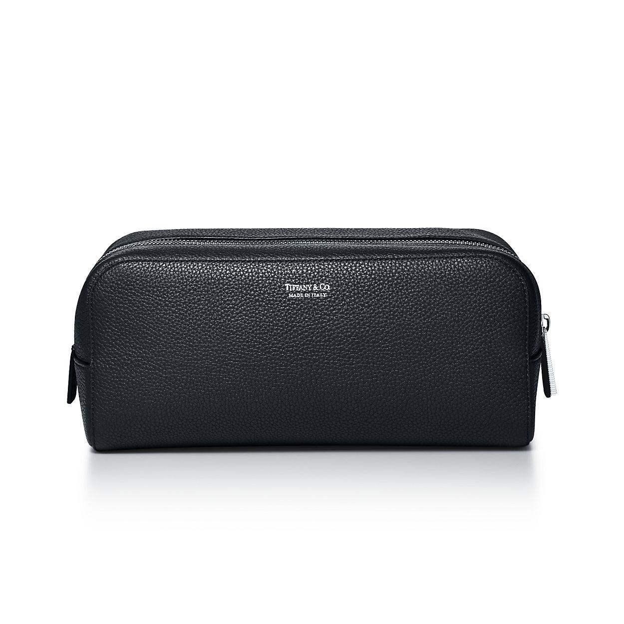 c1ecd56d5a9a Dopp kit in black grain calfskin leather