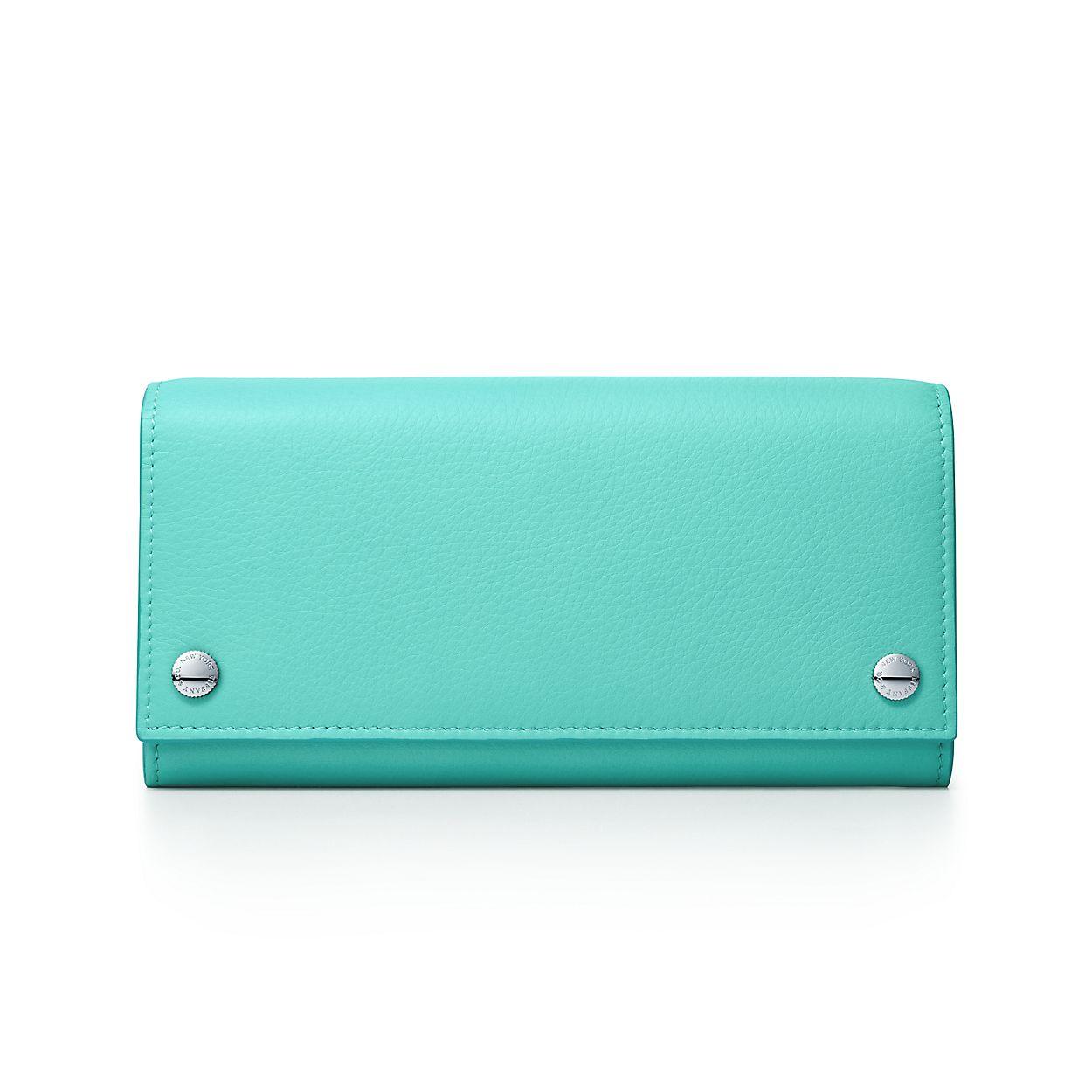 Travel wallet in black grain calfskin leather Tiffany & Co. QmezP45