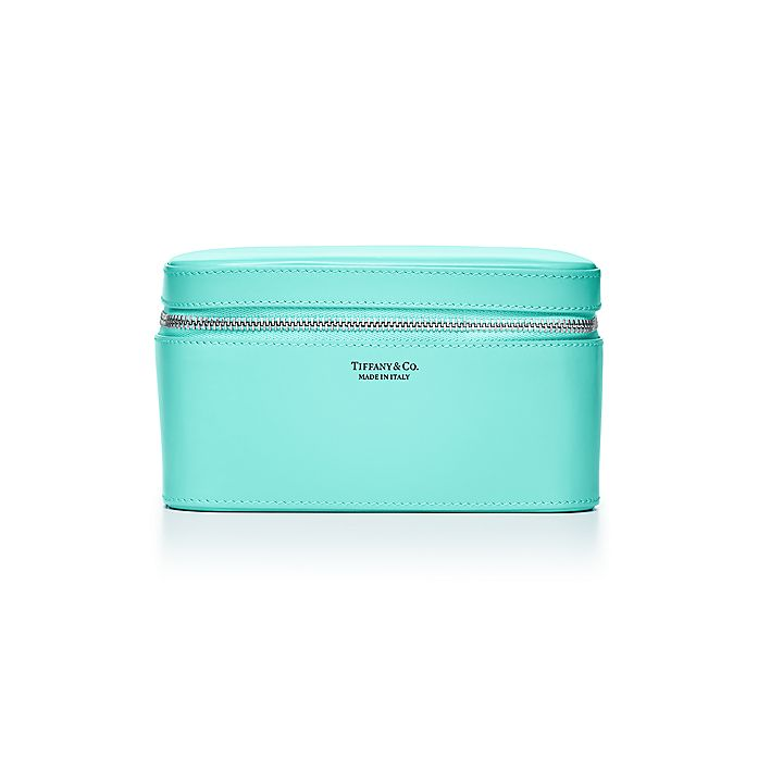 24f82c172 Rectangular jewelry case in Tiffany Blue® smooth calfskin leather, large.    Tiffany & Co.
