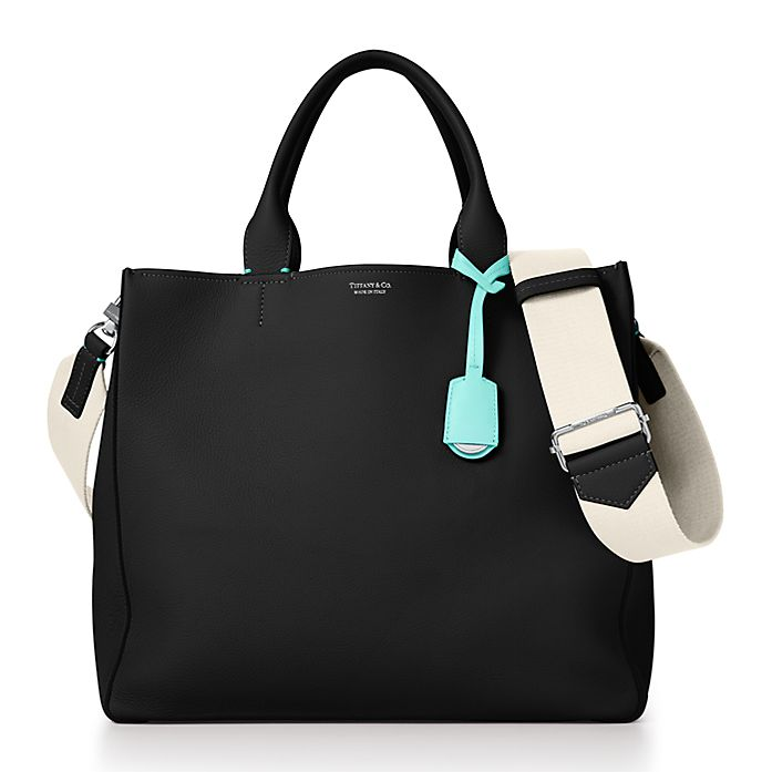 05016e21a9c Women s tote in black grain calfskin leather.